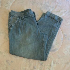 Old Navy Light Blue Cuffed Boyfriend Jeans